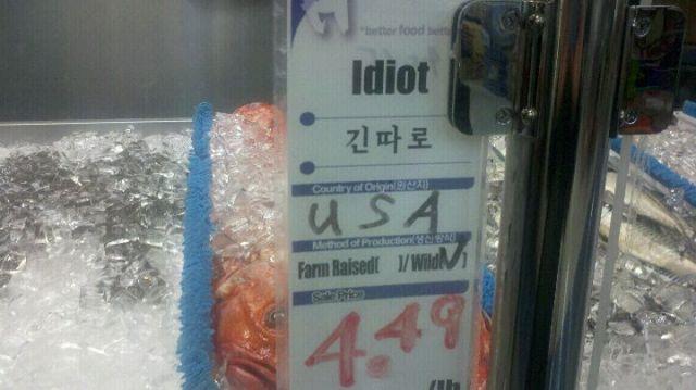 Idiot fish